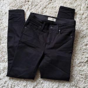 "Madewell black 9"" high-rise skinny jeans sz26"
